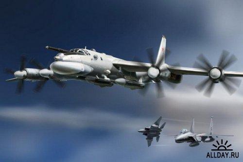 Российские бомбардировщики над Балтикой